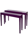 "set of tables ""Jannis"", purple"