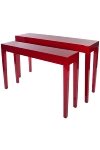 "set of tables ""Jannis"", red"