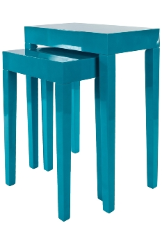 "side table ""Alexandros"",  set of 2 , blue"