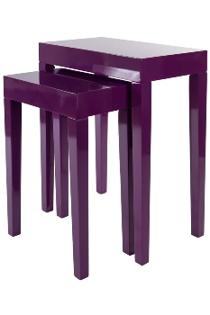 "side table ""Alexandros"",  set of 2 , purple"