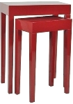 "side table ""Alexandros"",  set of 2 , red"