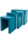 "side table ""Ikaros"",  set of 3 , blue"