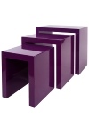 "side table ""Ikaros"",  set of 3 , purple"