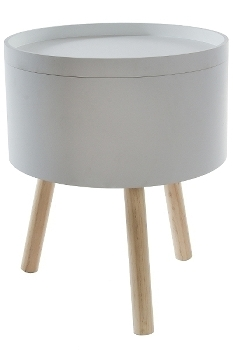 "sidetable ""Lukk"" with storage, white"