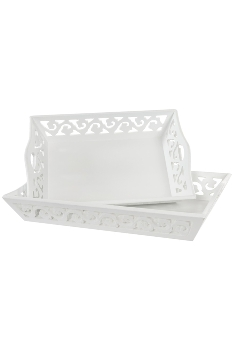 "tray set of 2 ""Jade"""