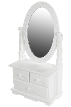 "side board ""Meridian"",  with mirror, white"