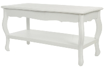 "coffee table ""Meridian"", white"
