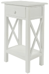 "side table ""Meridian"", with drawer, white"