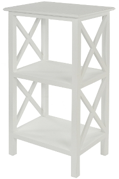 "side table ""Meridian"", with 3 shelfs, white"