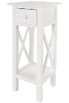 "side table ""Meridian"", with 1 drawer, white"