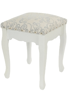 stool Elegance, upholstered with fabric cover