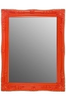 "mirror ""Rangi II"", orange"