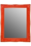 "mirror ""Rangi II"", orange"