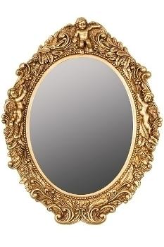 "oval mirror ""Mogallal"", golden"