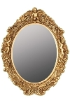 "oval mirror ""Mogallal"", golden"