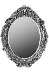"oval mirror ""Mogallal"", silver"