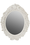 "oval mirror ""Mogallal"", white"