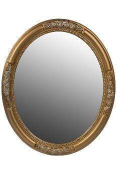 "oval mirror ""Beyzawi I"", golden"