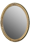 "oval mirror ""Beyzawi II"", golden"