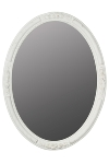 "oval mirror ""Beyzawi II"", white"