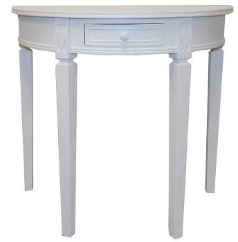 """semi circle table """"Elegance"""", white"""