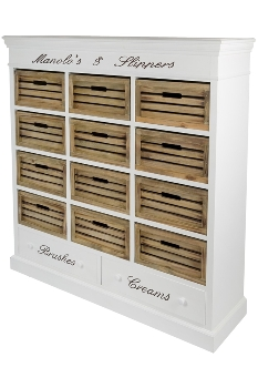 """side board """"Provence"""" for shoes with 12 baskets"""