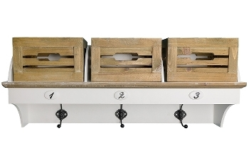 """wardrobe """"Provence"""" with 3 wooden  baskets"""