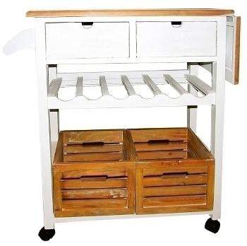 "trolley ""Provence"" with shelfs"