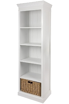"bookcase ""Bretagne"", with rattan basket"