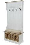 "wardrobe ""Provence"" with bench und baskets"
