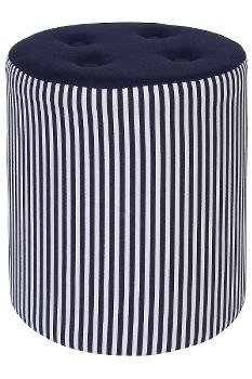"""stool """"Elias"""", round with fabric cover"""