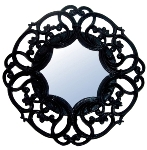 "lacquered mirror ""Janina"", black"