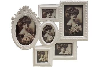 """Family Frame 6 """"Sarina"""", white"""