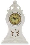 "Poly clock ""Tinka"", white"