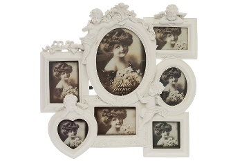 "Family picture frame 7 ""Malaika"", white"