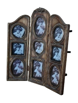 "folding screen picture frame ""Sanya"", golden"