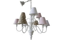 "pendant lamp ""Stella"", with 6 lamps"