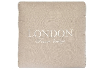 "cushion ""London Tower Bridge"", cream"