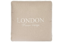 "Kissen ""London Tower Bridge"", creme"