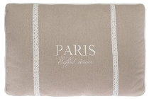 "cushion ""Paris Eiffel Tower"", cream"