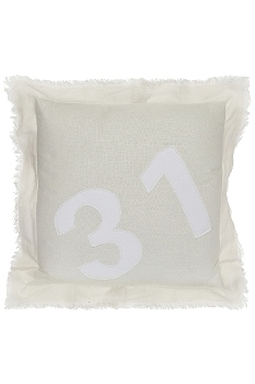 "31 cushion ""Thirty One"", white"