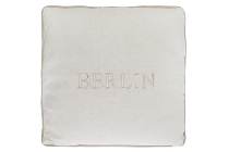 "Berlin cushion ""Berlin"", white"