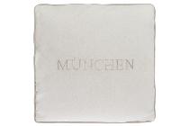 """München cushion """"München"""", white"""