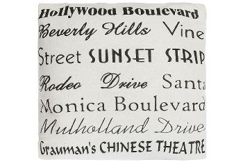 """cushion """"Hollywood Boulevard"""""""