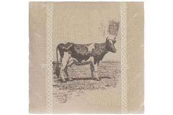 "cushion ""Cow"", square"