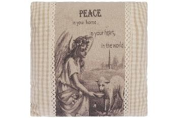 """cushion """"Peace"""", square"""