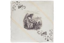 "cushion ""Farmer's Girl"", square"