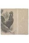"""cushion """"Rooster"""", square"""