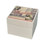 """wooden box """"Lilou"""", with romantic theme"""