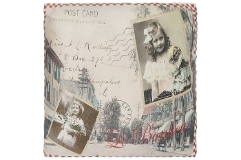 "cushion ""Bonheur Postcard"""